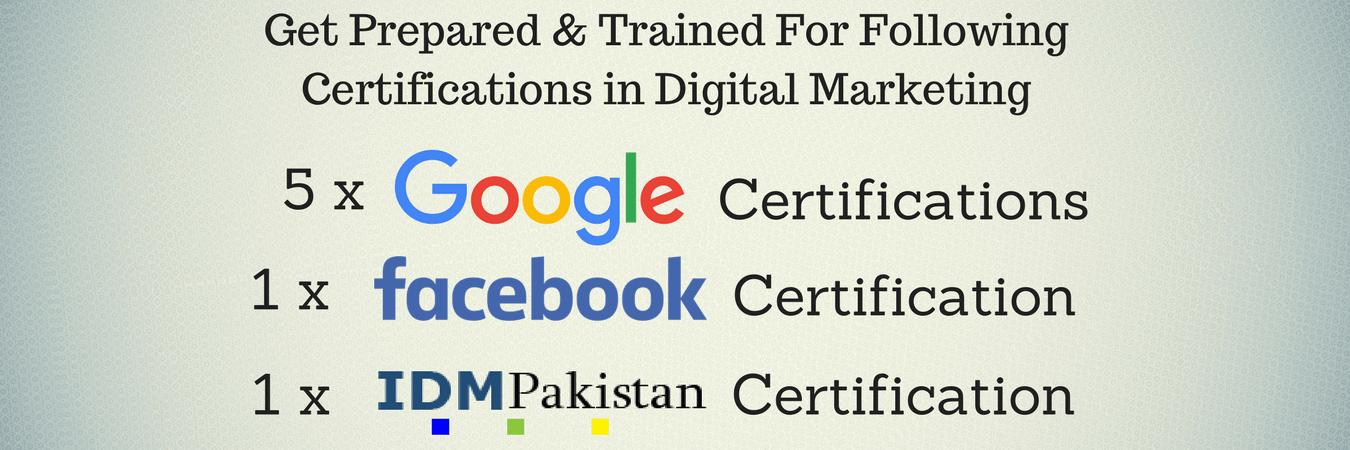 IDMPakistan digital marketing certification program